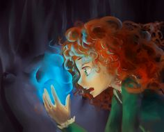 waiting for Brave~ (wanna see my homeland) Merida + Will-O-Wisp Official Disney Princesses, After All This Time Always, Princess Merida, Disney Movies, Magick, Anime, Animation, Fan Art, Deviantart