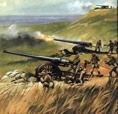British naval artillery in action during the Anglo-Boer War Military Guns, Military Art, Military History, English Army, Military Drawings, War Film, French Army, British Colonial, Modern Warfare