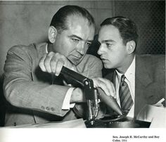 """Republican Communist witch hunters, Joe McCarthy and Roy Cohn. The 1950's Communism investigations and hearings destroyed the lives and careers of hundreds of thousands of people who had even so much as attended Socialist events in college out of curiosity, or who had merely hung out with the """"wrong"""" people. Republicans paid special attention to Hollywood, fearing """"Pinko propaganda"""". Some of the greatest acting, writing, and directing talents were driven into obscurity."""