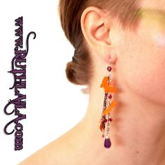 Butterfly and Amethyst Earrings By Ruth Laila Steffensen:  https://www.facebook.com/pages/Ruth-Laila-Design/187025864691203  http://www.ruthlaila.com/butterfly-an-amethyst/