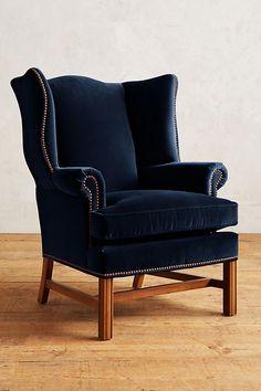 Slide View: 1: Velvet Ludlowe Chair