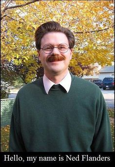 Didelidudeli? Real life Ned Flanders!