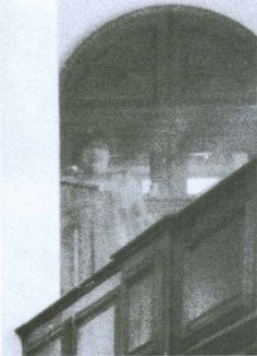 Ghost in the Choir Loft ~ This photo was taken in 1982 at London's St. Botolph's Church. It was taken by photographer Chris Brackley, who claimed that there were only three people in the church at the time, and none of them were in that loft.   Brackley was contacted later that the image of the woman resembled one that a man had seen in a coffin at that very church.