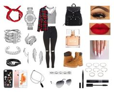 Outfits #27 by emelygabriela on Polyvore featuring polyvore, fashion, style, Glamorous, Topshop, Timberland, Effy Jewelry, Michael Kors, Gemma Redux, LeiVanKash, Bling Jewelry, Wet Seal, Full Tilt, Forever 21, Ray-Ban, Christian Dior, Stila and Givenchy