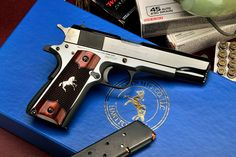 Talo Distributors Colt 1911, model O1970A1T. 1911 Pistol, Colt 1911, 1911 Grips, John Browning, Best Handguns, Colt Python, Rifle Stock, Guns And Roses, 45 Acp