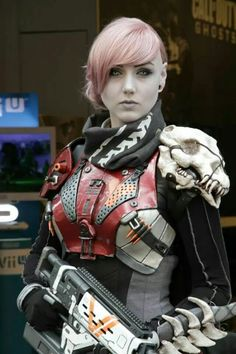 Some sweet Destiny cosplay by Karin Olava Effects.