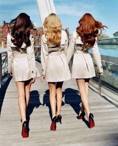 Brunette. Blonde. Redhead.