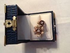 Dual rose ring 14K gold