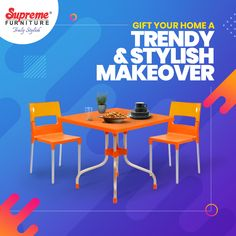 Our weatherproof, stackable, sturdy & durable furniture is not only stylish but also functional. Explore a variety of low maintenance furniture to beautify your spaces on our website & app. . . . #SupremeFurniture #MouldedFurniture #PlasticFurniture #BeautifulSpaces #Durable #Sturdy #Vibrant #Aesthetic #TrulyStylish #HomeDecor #LowMaintenance #EasyToClean #StackableFurniture #Decor #IndoorFurniture #OutdoorFurniture #HomeInteriors