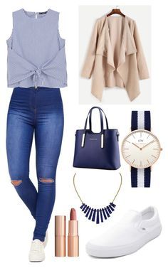 """""""Untitled #542"""" by cristiana-s ❤ liked on Polyvore featuring Lazuli, WearAll, MANGO, Daniel Wellington, Vans and Charlotte Tilbury"""