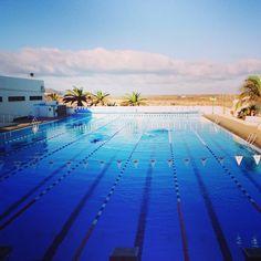 Morning swim Club La Santa