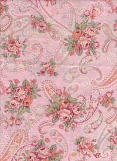 Chic Pink Paisley roses shabby bedroom fabric window topper curtain Valance #Handmade #Cottage