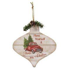 3/Set Christmas Truck Ornament