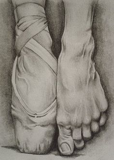 "Working feet like Natalie's in ""Black Swan"" Anatomy Art, Anatomy Drawing, Foot Anatomy, Pencil Art Drawings, Drawing Sketches, Sketching, Ballet Drawings, Book Drawing, Feet Drawing"