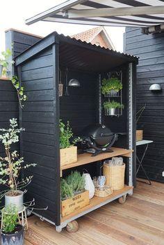 Small Garden Design, Yard Design, Outdoor Spaces, Outdoor Living, Outdoor Decor, Back Gardens, Outdoor Gardens, Garden Buildings, Outdoor Projects