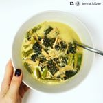 #Repost @jenna.kilzer with @repostapp ・・・ The weather may be warming up here but I'm still eating soup for breakfast. This is @aiplifestyle lemon kale chicken soup! I know I'm starting my day off with a great balance of protein, veggies, healthy fats and nutrient dense bone broth. Recipe link in profile! . . . #soupforbreakfast #jennasbreakfast #aiplifestyle #bonebroth #holisticnutrition #nutrition #nutrientdense #nutritionaltherapy #paleo #primal #organic #glutenfree #ntatraining…