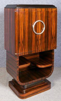 Art Deco Decor, Art Deco Design, Art Deco Furniture, Vintage Furniture, Mid Century Bar Cabinet, Architecture Design, Art Deco Hotel, Muebles Art Deco, Bauhaus Art