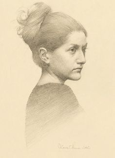 Louise C. Fenne - Portrait of Stine