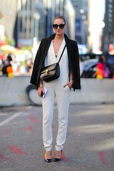 outfit inspo: black & white at nyfw: CHIARA FERRAGNI