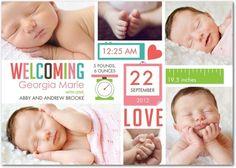 Girl Photo Birth Announcements Precious Pictogram - Front : Ballet