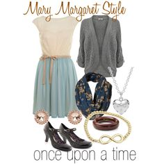 """get the look - Mary Margaret style OUAT"" by onceuponanovel on Polyvore ... I leeerve this show. Especially Mary Margaret's style!"