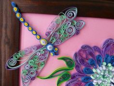 89 best Quilling - Dragonflies and other insects images on Pinterest