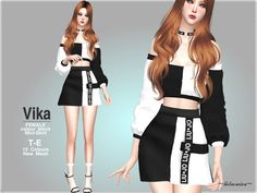 Style : K Fashion, Colour block mini skirt with tape details Found in TSR Category 'Sims 4 Female Everyday' Sims 4 Toddler Clothes, Sims 4 Mods Clothes, Sims 4 Clothing, Female Clothing, Sims 4 Game Mods, Sims Mods, Sims 4 Piercings, Sims 4 Characters, Sims 4 Dresses