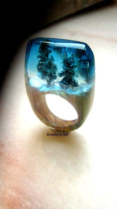 Atelier de Jade Resin wood Winter ring since january 2015