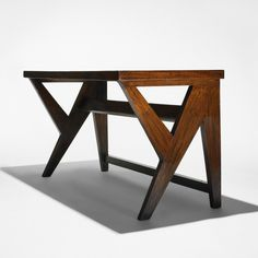 Pierre Jeanneret, a teak console from Panchayat Bawan, Chandigarh, France/India , 1952. Wright Auctions