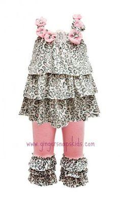 Baby Sara Little Leopard Tunic w/ Leggings.  Love the Tunic, not the leggings.