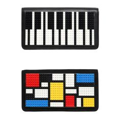 Les Petits Joueurs Mondrian Lego Clutch and Piano Leather Clutch