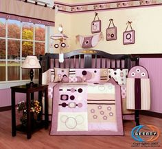 My baby girl's bedroom suit... :D On my registry!! ;) Boutique Brand New GEENNY Baby Girl Artist 13PCS CRIB BEDDING SET by GEENNY.