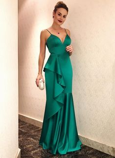 Spaghetti Straps Prom Dress,Long Prom Dress,Chiffon Prom Dress, Prom Dress on Luulla Straps Prom Dresses, Satin Dresses, Elegant Dresses, Chiffon Dress, Beautiful Dresses, Bridesmaid Dresses, Formal Dresses, Dress Prom, Dress Long