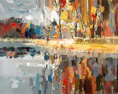 Josef Kote The subtlety of this painting in combination with the contrast between warm and cool colors create an overall pleasing feeling of warmth within a monotonous gray environment.