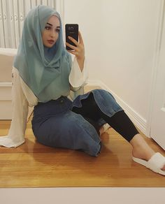 Modest Fashion Hijab, Modern Hijab Fashion, Hijab Casual, Muslim Women Fashion, Arab Fashion, Beautiful Muslim Women, Beautiful Hijab, Girl Hijab, Hijab Outfit