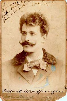 old time photo handlebar mustache