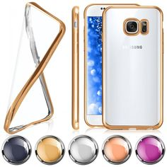 Chrome Case für Samsung Galaxy Schutz Hülle Durchsichtig Slim Back Cover Silikon…