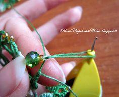 Piccoli Capricci: Chiacchierino: inserire le perline sui picot (lezione 8)
