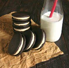 butterscotch bourbon chocolate sandwich cookies / une gamine dans la cuisine
