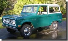 1968 Ford Bronco...my first vehicle.