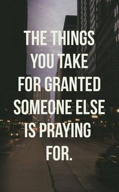 don't take it for granted