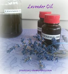DIY Lavender Oil, I have so much lavender I feel like it would be a crime not to do something with it.