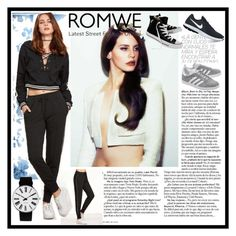 """ROMWE"" by merima-mrahorovic ❤ liked on Polyvore featuring Rosendahl, Converse, NIKE and adidas Originals"