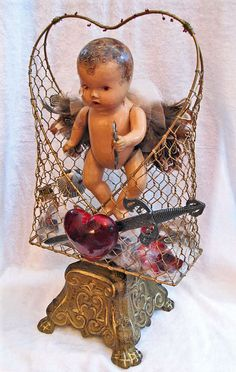 My Angel Baby Shrine.  For all the babies lost due to miscarriage, abortion, accidental death, natural causes, etc.  Assemblages by Roberta Karstetter