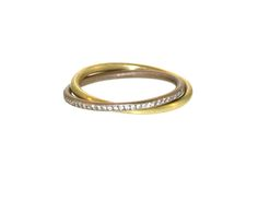 Pavé Diamond and 18K Gold Entwined Wedding Band