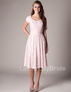 Darby Modest Mormon LDS Bridesmaid Dress. The pomegranate or iron would be cute and go with your theme!