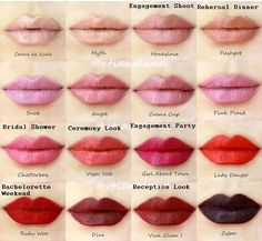 Lipstick for every wedding event