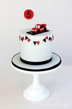 Cute Disney Cars Lightning Mc Queen boys birthday cake