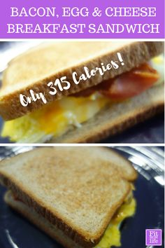 homemade bacon egg cheese breakfast sandwich this bacon egg cheese ...