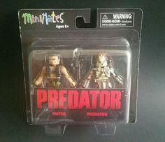 Predator Minimates Toy Figures Dutch And Predator Sealed New #DiamondSelect